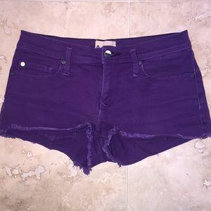 Purple Mid-Low-Rise Roxy Jean Shorts